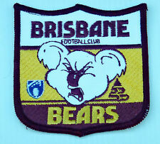 VINTAGE AFL BRISBANE BEARS FOOTBALL CLUB EMBROIDERED PATCH WOVEN CLOTH SEW BADGE
