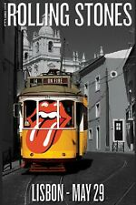 The Rolling Stones at Lisbon Portugal Concert Poster 1995 13x19