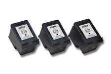 3x CARTUCHO TINTA negro para HP 338 Photosmart 8450v c3180