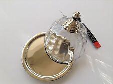 Butterdose mit Kristall Glashaube (Silber, Gloche, Tafel, Fest, Feier, Colmore)