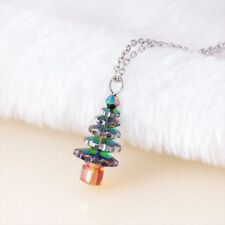 Women Girls Cute Fashion Jewelry t Christmas Tree Pendant Necklace Holiday Gifts