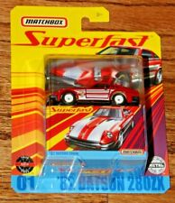 2019 MATCHBOX SUPERFAST RED '82 DATSUN 280 ZX WITH RUBBER TIRES V 1:64