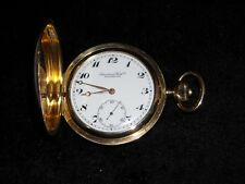 14k yellow gold IWC  Schaffenhausen antique pocket watch  hunting case 17 jewels