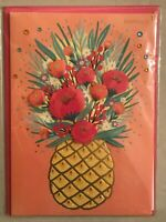 Papyrus - Mother's Day greeting card Mom Flowers Pineapple - New in Packaging