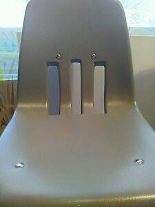 Virco preschool 1970's Chair Gray Hard Plastic black metal vintage 1 chair