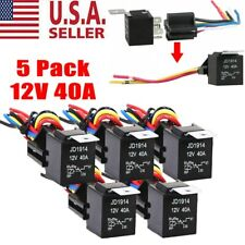 5Pack 30/40 Amp 12V 5-Pin Spdt Automotive Relay with Wires & Harness Socket Set