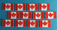 12 Lot Iron On Canadian Canada Flag Biker Vest Hat Backpack Travel Patches D