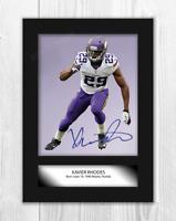 Xavier Rhodes (3) NFL Minnesota Vikings A4 signed poster. Choice of frame.