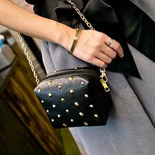 Women Shoulder Bag Purse Rivet Tote Satchel Messenger Chain Hobo Bag Handbag