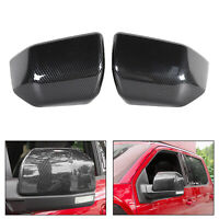 Side Mirror Cover Caps ABS Carbon Fiber Replace Fits Ford F150 2015-2019 Raptor
