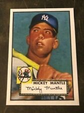 1952 Topps #311 Mickey Mantle New York Yankees Rookie Card Reprint RC Mint