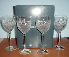 Waterford Seahorse Nouveau Water/Wine Goblet 4 PC. Set 40027974 New Boxed