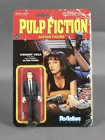 """VINCENT VEGA Pulp Fiction 3 3/4"""" inch ReAction Figure with Gun BRAND NEW, SEALED"""