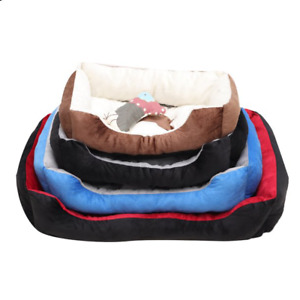 New 4 Colors Dog Bed For Your Friend Plush Warming Pet Bolster Bone Pillow 3size