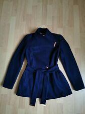 Ted Baker Short Wool Wrap navy blue Coat size 1 uk8