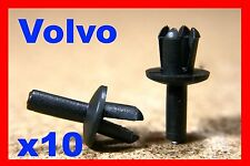 10 VOLVO wheel arch flare lining cover mudguard flap rivets fasteners clips