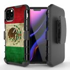 MEXICO Flag Hybrid Belt Clip Case for iPhone 12 11 XS MAX XR 8 7 6 Series