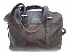 -AUTHENTIQUE   sac type cartable  HUGO BOSS cuir  TBEG vintage bag