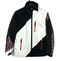 Spyder Challenger Insulated Ski Snowboard Jacket Red White Black Boys 12 No Hood