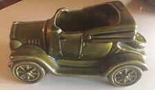 McCoy Vintage Retro Mid Century California Pottery Green Antique Car Planter EUC