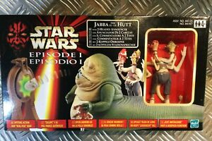 Hasbro Star Wars Episode 1 Jabba The Hutt with Two Headed Annoucer ovp