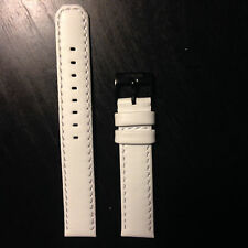 Nixon The 42-20 White Leather just Band ..17mm wide !! Free Shipping!