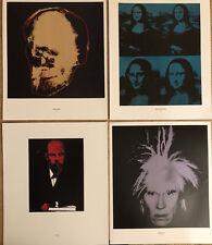 4 X ANDY WARHOL PORTRAITS LENIN/Mona lisamini POSTER 29 x 24cm A181/284/300/303
