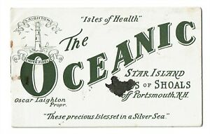 Booklet, The Oceanic Hotel, Star Island, Isles of Shoals, Portsmouth NH c1910s