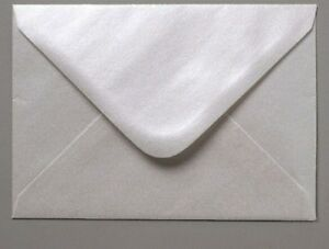 C6 Fresh Oyster Pearlescent White Invitation Envelopes A6 Card Wedding FREE P&P