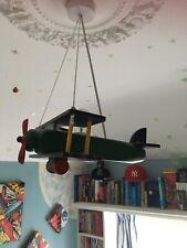 wooden aeroplane pendant ceiling light