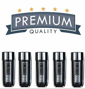 5x Hair Thickening Fibers by HAIR ILLUSION Bald Thinning Scalp Concealer Fiber