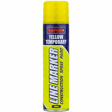 1 x 250ml Yellow Line Marker Spray Temporary Construction Paint Aerosol Can