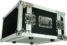 "CaseToGo 6RU 19"" amplifier rack case flightcase - 450mm sleeve depth"