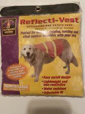 REFLECTIVE DOG VEST by Outward Hound BRIGHT ORANGE M/L Safety Reflecti-Vest