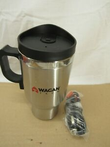 Wagan Tech 6100 12-Volt Deluxe Double-Wall Stainless Steel Heated Travel Mug #1
