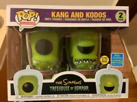 Kang & Kodos Simpsons Glow GITD SDCC Funko Pop Vinyl New in Box In Hand