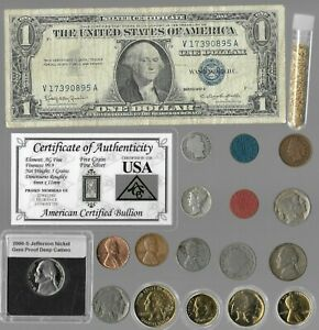 Silver Dollar Barber Mercury Liberty Indian Rare US Coin Collection Lot Gold 253