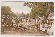 More details for india postcard - heathen khonds at festival fire, orissa, medical mission (a65)