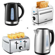 2 or 4 Slice Toaster with Cordless 1.7L Electronic Kettle Combo Deal