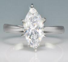 2.5 ct Marquise Ring Extra Brilliant C Z Imitation Moissanite simulant SS Sz 10