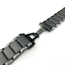 Ceramic Black Strap/Band/Bracelet with clasp fits Emporio Armani AR1452 watch