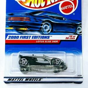2000 Hot Wheels First 15/36 Editions Lotus Elise 340R Silver unpainted base #75