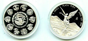 2020 Mexico 1 oz .999 Silver Onza Libertad Proof Coin Amricons