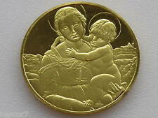 The Small Cowper Madonna Gold On Sterling Silver Medal Franklin Mint D2852