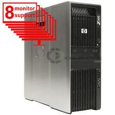Trading 8 Monitor PC HP Z600 Workstation 8 Core 2x E5506 2.13Ghz 8GB 1TB  Win10