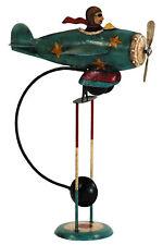 "Flying Ace Sky Hook 16"" Airplane Metal Balance Folk Art Teeter Toy New"