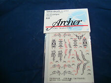 ARCHER FINE TRANSFERS TATTO DECALS TRIBAL WATER SLIDE FG99009 1:6 TO 1:4 NEW