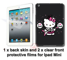 Hello Kitty Punk Back SKIN STICKER COVER and 2 protected films for iPad Mini