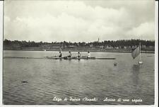 lago di patria napoli barca canottaggio arrivo di una regata