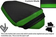Verde Y Negro Custom encaja Kawasaki Z 800 E Trasera de piel cubierta de asiento